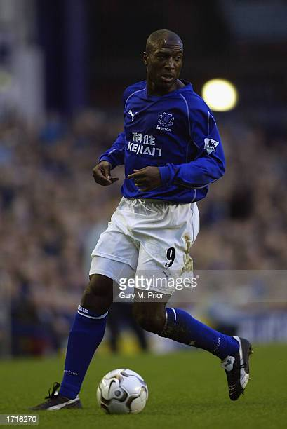 Kevin Campbell of Everton with the ball at his feet during the FA Barclaycard Premiership match between Everton and Bolton Wanderers held on December...