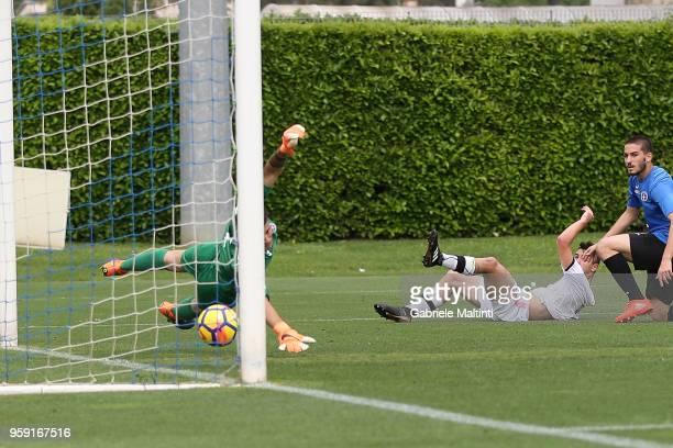 Kevin Cannavo' #9 of US Citta' di Palermo Calcio scores a goal during the SuperCoppa primavera 2 match between Novara U19 and US Citta di Palermo U19...
