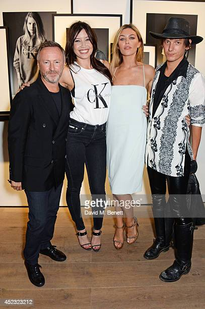 Kevin Carrigan Global Creative Director of Calvin Klein Jeans Daisy Lowe Abbey Clancy and Damon Baker attend the Calvin Klein Jeans x Mytheresacom...