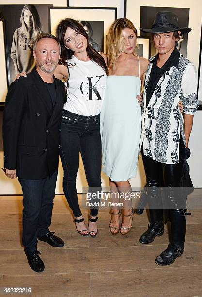 Kevin Carrigan, Global Creative Director of Calvin Klein Jeans, Daisy Lowe, Abbey Clancy and Damon Baker attend the Calvin Klein Jeans x...