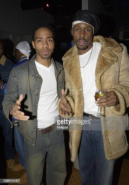 Kevin Carroll and Wood Harris during Paid In Full Premiere AfterParty at SPA Nightclub in New York City New York United States
