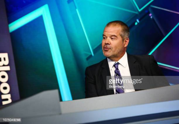 Kevin Carter chief executive officer of Big Tree Capital LLC speaks during a Bloomberg Television interview in New York US on Wednesday Aug 29 2018...
