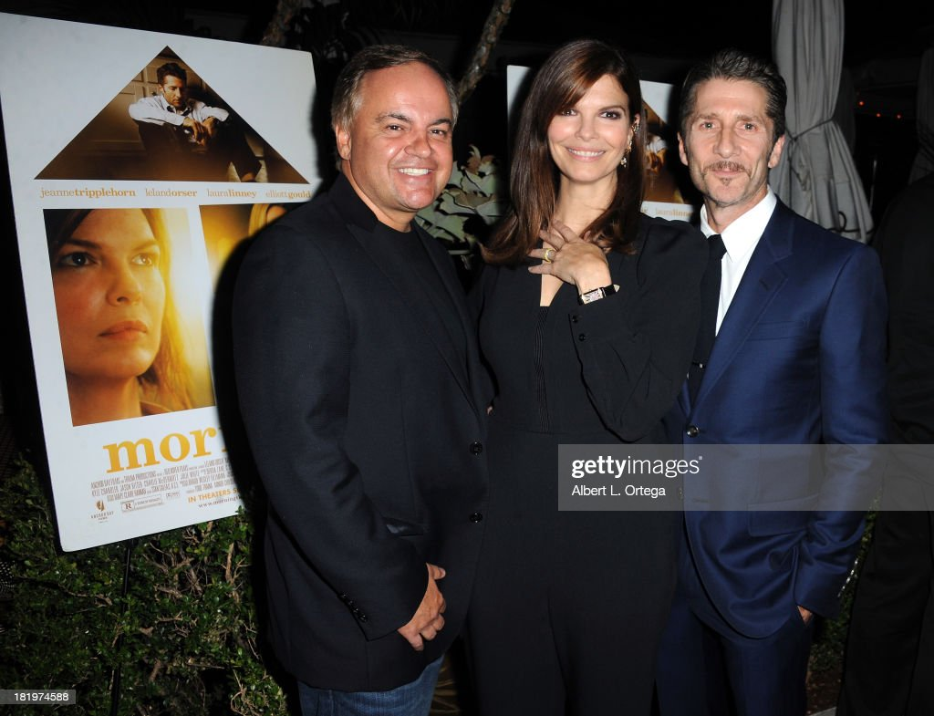 Kevin Casha, actress Jeanne Tripplehorn and actor/director Leland Orser attend C Magazine Dinner And Reception Celebrating Leland Orser's 'Morning' held at Chateau Marmont on September 26, 2013 in West Hollywood, California.