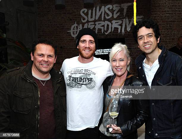 Kevin Chapman Bryan Greenberg and Groffrey Arend celebrate the launch of Sunset Overdrive at the XboxOne Loft on October 27 2014 in New York City