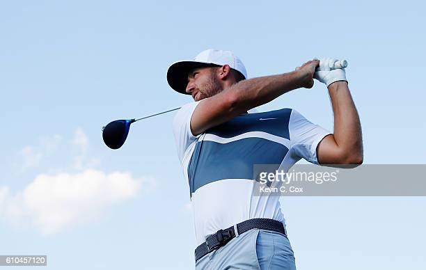 Kevin Chappell hits his tee shot on the 16th hole during the final round of the TOUR Championship at East Lake Golf Club on September 25 2016 in...