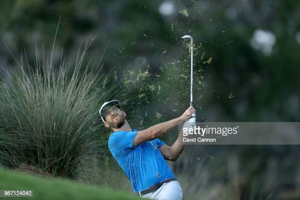 Kevin Chappell of the United States plays his second shot on the par 4, 14th hole during the first round of the THE PLAYERS Championship on the...