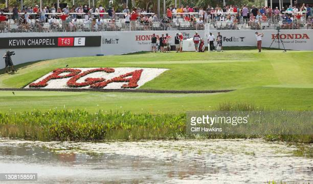Kevin Chappell of the United States plays his shot from the 17th tee during the third round of The Honda Classic at PGA National Champion course on...