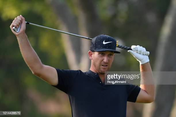 Kevin Chappell of the United States stands on the seventh tee during the second round of the 2018 PGA Championship at Bellerive Country Club on...