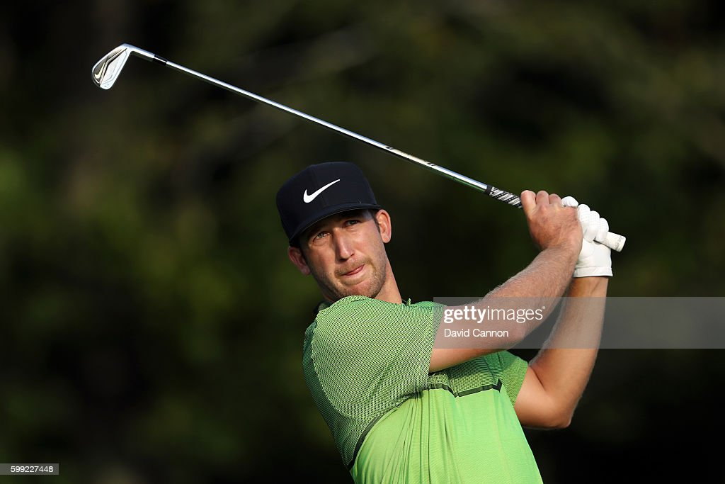 Kevin Chappell plays his shot from the 17th tee during the third round of the Deutsche Bank Championship at TPC Boston on September 4, 2016 in Norton, Massachusetts.