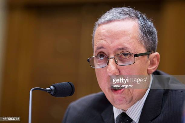 Kevin Charest chief information security officer for the Health and Human Services Department testifies during a House Oversight Committee hearing...