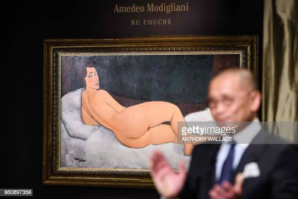 Kevin Ching Sotheby's Chief Executive Officer Asia introduces Italian painter and sculptor Amedeo Clemente Modigliani's 'Nu couché ' painting as it...