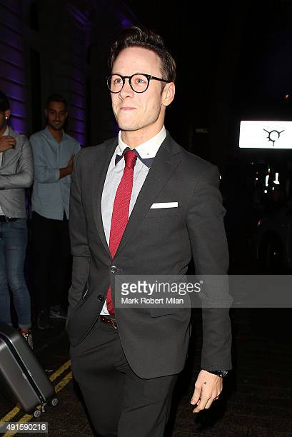 Kevin Clifton attending the Specsavers 'Spectacle Wearer of the Year' party on October 6 2015 in London England