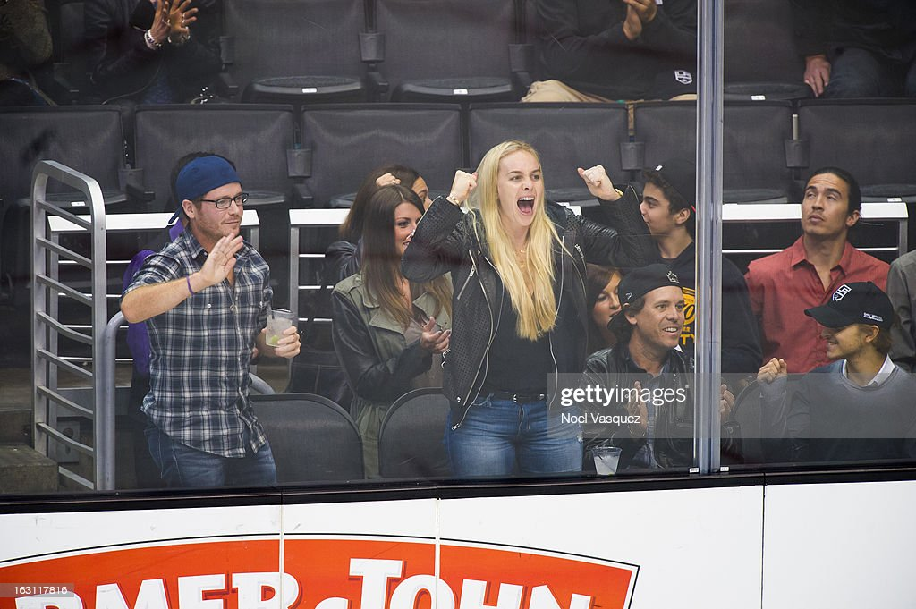 Kevin Connelly and guests attend a hockey game between the Nashville Predators and Los Angeles Kings at Staples Center on March 4, 2013 in Los Angeles, California.