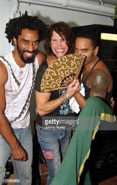 d3c29dea226a8 Kevin Conner Steven Tyler and Lenny Kravitz during KOS Opening Party at KOS  in New York