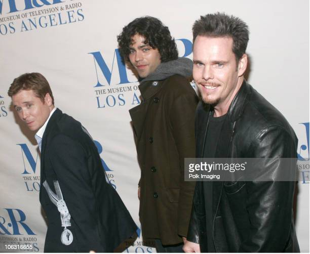 Kevin Connolly Adrian Grenier and Kevin Dillon during An Evening with Entourage March 1 2006 at The Director's Guild in Hollywood California United...