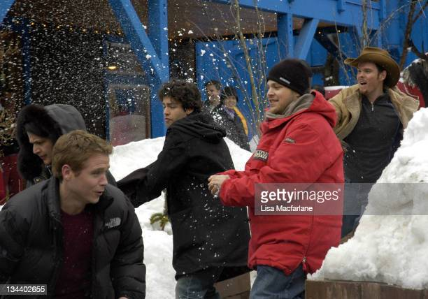 Kevin Connolly Adrian Grenier Jerry Ferrara and during 2005 Sundance Film Festival Taping of Entourage January 27 2005 at Main Street in Park City...