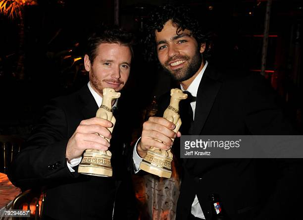 Kevin Connolly and Adrian Grenier attends the HBO after party for the 14th Annual Screen Actor's Guild Awards at the Shrine Auditorium on January 27...