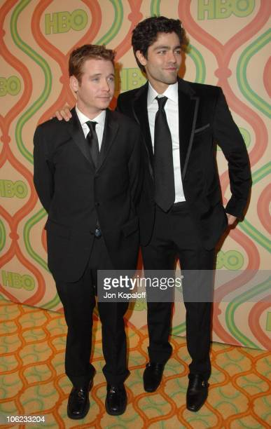Kevin Connolly and Adrian Grenier during HBO Golden Globes After Party - Arrivals at Beverly Hilton Hotel in Beverly Hills, California, United States.