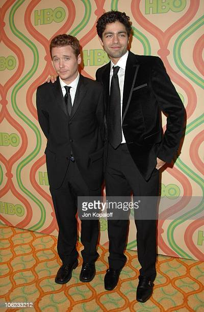 Kevin Connolly and Adrian Grenier during HBO Golden Globes After Party Arrivals at Beverly Hilton Hotel in Beverly Hills California United States