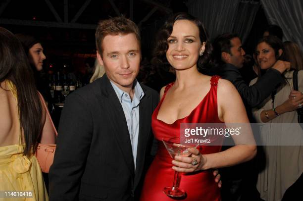 Kevin Connolly and Carla Gugino during Entourage Third Season Premiere in Los Angeles After Party in Los Angeles California United States