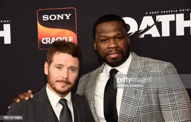 Kevin Connolly and Curtis 50 Cent Jackson arrive at Sony Crackle's The Oath Season 2 exclusive screening event at Paloma on February 20 2019 in Los...