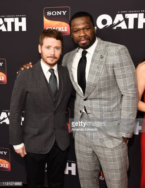 Kevin Connolly and Curtis '50 Cent' Jackson arrive at Sony Crackle's 'The Oath' Season 2 exclusive screening event at Paloma on February 20 2019 in...