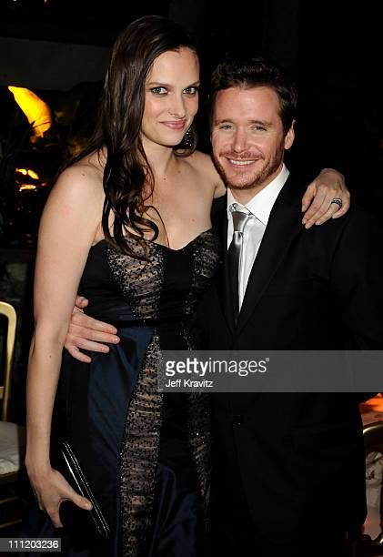 Kevin Connolly and Guest attend the HBO after party for the 14th Annual Screen Actor's Guild Awards at the Shrine Auditorium on January 27 2008 in...