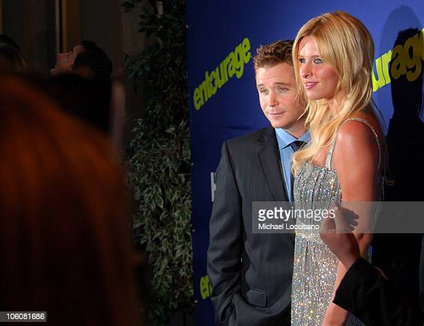 Kevin Connolly and Nicky Hilton during Entourage Season Three New York Premiere Arrivals at Skirball Center for the Performing Arts at NYU in New...