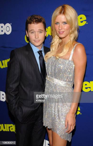 """Kevin Connolly and Nicky Hilton during """"Entourage"""" Season Three New York Premiere - Red Carpet at Skirball Center for the Performing Arts at NYU in..."""