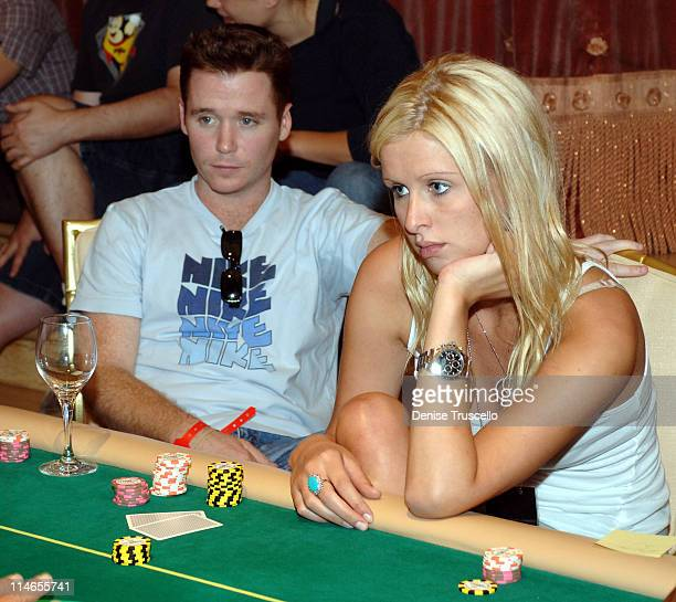 Kevin Connolly and Nicky Hilton during The Light Group Hosts Bob Mancari's All In Weekend Poker Tournement at The Bellagio Hotel and Casino Resort at...