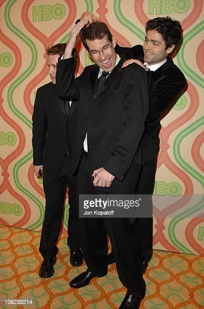 Kevin Connolly Doug Ellin and Adrian Grenier during HBO Golden Globes After Party Arrivals at Beverly Hilton Hotel in Beverly Hills California United...