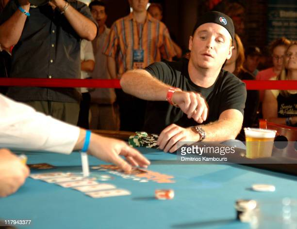 Kevin Connolly during Degree For Men All In Poker Experience at ESPN Zone in New York City New York United States