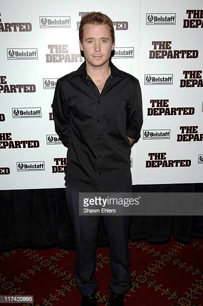 Kevin Connolly during The Departed New York City Premiere Sponsored by Belstaff Inside Arrivals at Ziegfeld Theatre in New York City New York United...