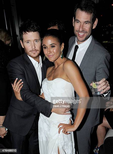 Kevin Connolly Emmanuelle Chriqui and director Doug Ellin attend the Entourage After Party at the Rumpus Room in the Mondrian London Hotel on June 9...