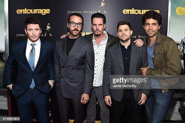 """Kevin Connolly, Jeremy Piven, Kevin Dillon, Jerry Ferrara and Adrian Grenier attend the """"Entourage"""" New York Premiere at Paris Theater on May 27,..."""