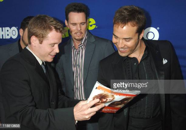 Kevin Connolly Kevin Dillon and Jeremy Piven during Entourage 2006 Season Premiere Red Carpet at Cinerama Dome in Hollywood California United States