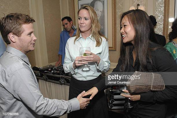 Kevin Connolly with Amy Peloquin and Helen Shen during Dinner Party with Kevin Connolly Hosted by Jason Binn of Gotham Hamptons Magazine at The...