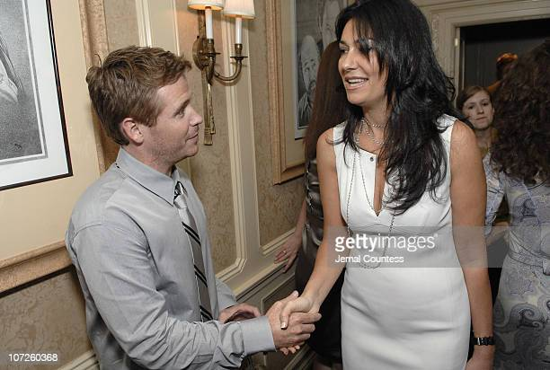 Kevin Connolly with Nazee Moinian during Dinner Party with Kevin Connolly Hosted by Jason Binn of Gotham Hamptons Magazine at The Friars Club in New...