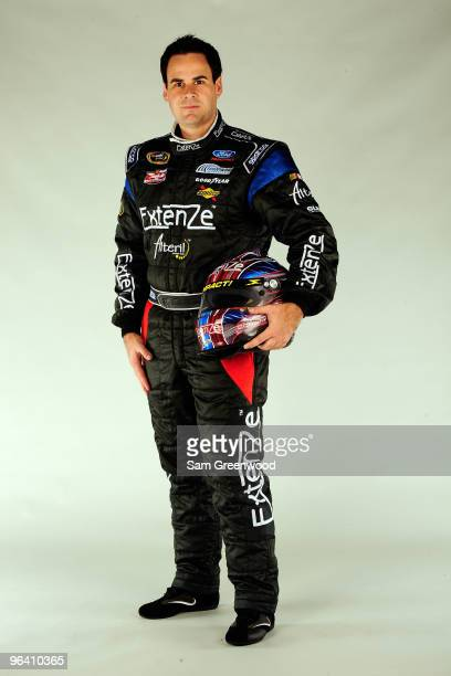 Kevin Conway driver of the ExtenZe Ford poses during NASCAR media day at Daytona International Speedway on February 4 2010 in Daytona Beach Florida