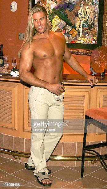 Kevin Cornell during Chippendales Calender 2005 Photo Shoot at Rio in Las Vegas Nevada United States