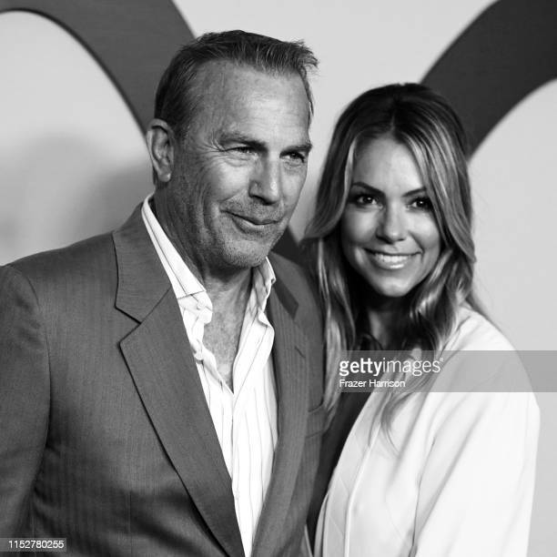 Kevin Costner and Christine Baumgartner attend Paramount Network's Yellowstone Season 2 Premiere Party at Lombardi House on May 30 2019 in Los...