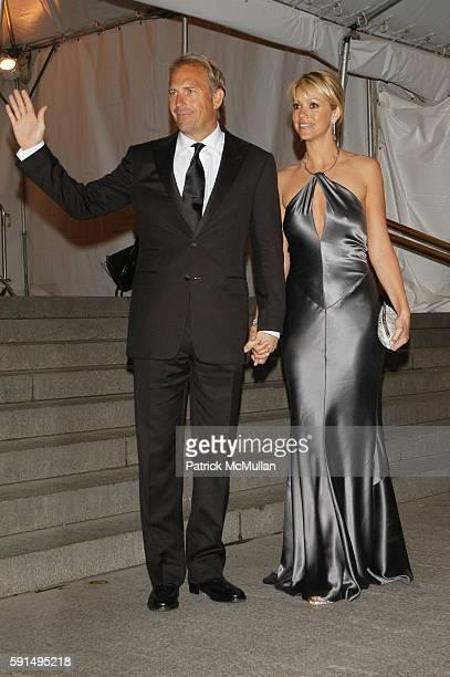 Kevin Costner and Christine Baumgartner attend The Metropolitan Museum of Art Costume Institute Spring 2004 Benefit Gala celebrating the exhibition...