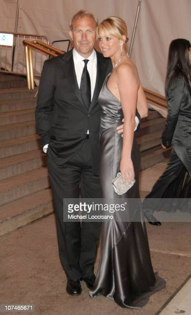 """Kevin Costner and Christine Baumgartner during """"Chanel"""" Costume Institute Gala Opening at the Metropolitan Museum of Art - Departures at The..."""