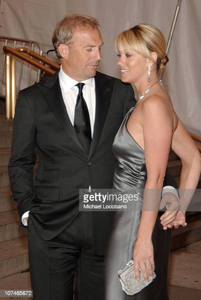 Kevin Costner and Christine Baumgartner during Chanel Costume Institute Gala Opening at the Metropolitan Museum of Art Departures at The Metropolitan...