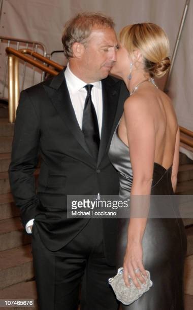 Kevin Costner and Christine Baumgartner during 'Chanel' Costume Institute Gala Opening at the Metropolitan Museum of Art Departures at The...
