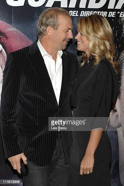 Kevin Costner and Christine Baumgartner during 'The Guardian' Madrid Premiere October 5 2006 at Palacio de la Musica Cinema in Madrid Spain