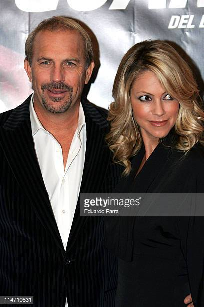 Kevin Costner and Christine Baumgartner during The Guardian Madrid Premiere October 5 2006 at Musica Palace Cinema in Madrid Great Britain