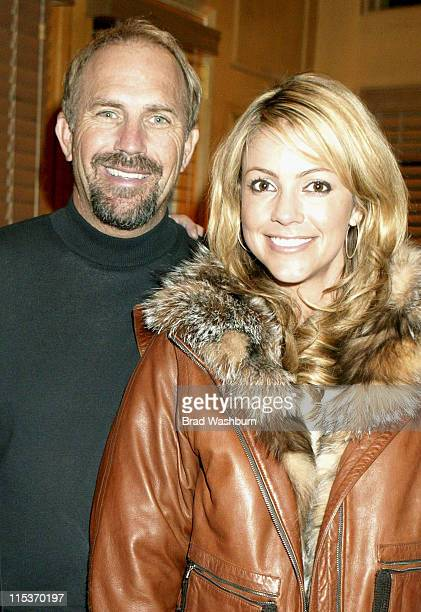 Kevin Costner and Christine Costner during 2005 Sundance Film Festival Ringers Lord of the Fans Cast and Fan Party in Park City Utah United States