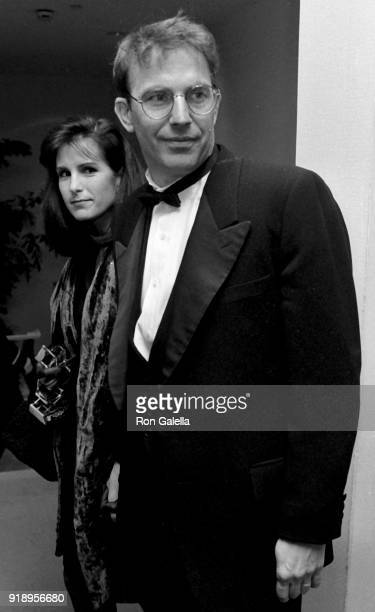 Kevin Costner and Cindy Costner attend 43rd Annual Directors Guild of America Awards on March 16 1991 at the Beverly Hilton Hotel in Beverly Hills...