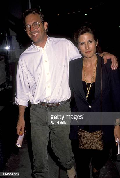 Kevin Costner and Cindy Costner during Once On This Island Los Angeles Premiere at Wilshire Theater in Los Angeles California United States